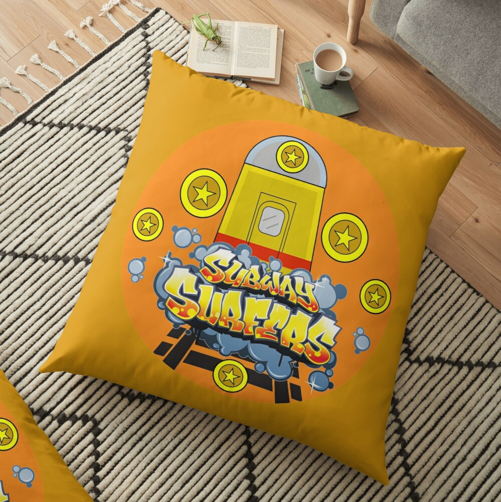 subwaysurfers, subway surfers, subsurf Floor Pillow