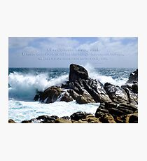 Adversity is as a strong wind... Photographic Print