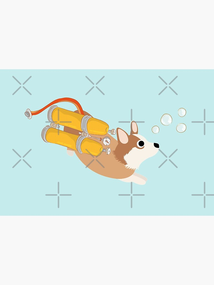 My Corgi World - Majesty Pembroke - Cute welsh cardigan corgis is diving II by Corgiworld