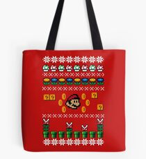 Super Mario Ugly Sweater Tote Bag
