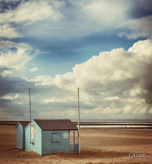 The Blue Beach Hut 2 by Nikki Brown