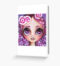 Dianthus Fairy Greeting Card