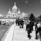 Journey of a thousand steps - Sacre Cour - Paris, France by Norman Repacholi