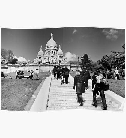 Journey of a thousand steps - Sacre Cour - Paris, France Poster