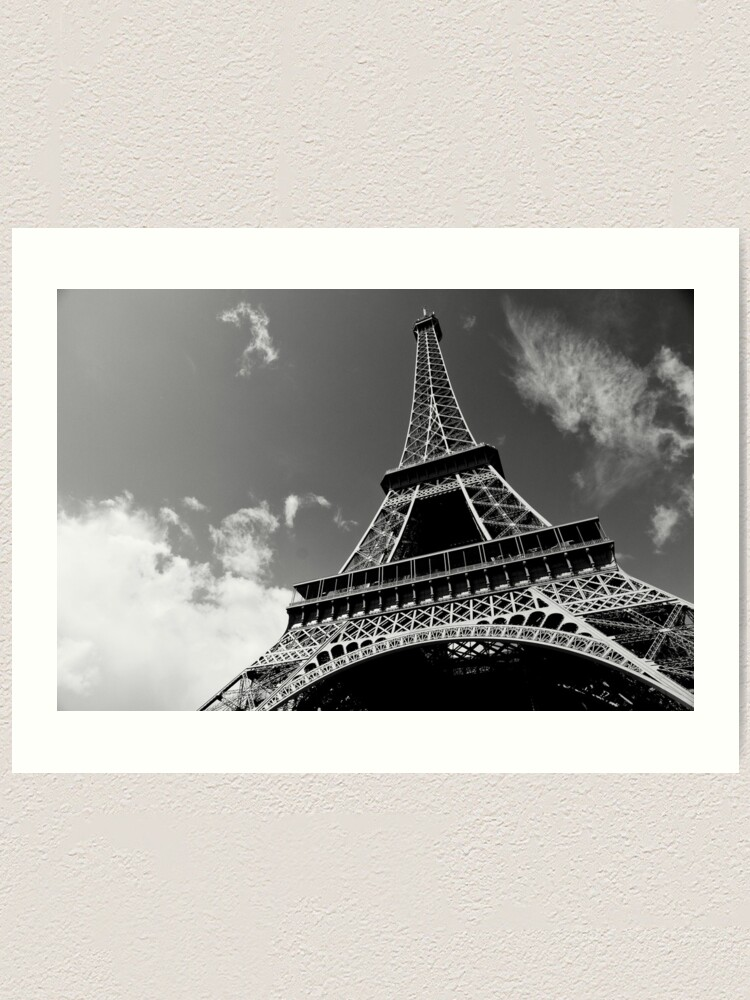 Alternate view of Sunshine on iron - Eiffel Tower - Paris, France Art Print