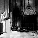 Preaching from the pulpit - Notre Dame - Paris, France by Norman Repacholi