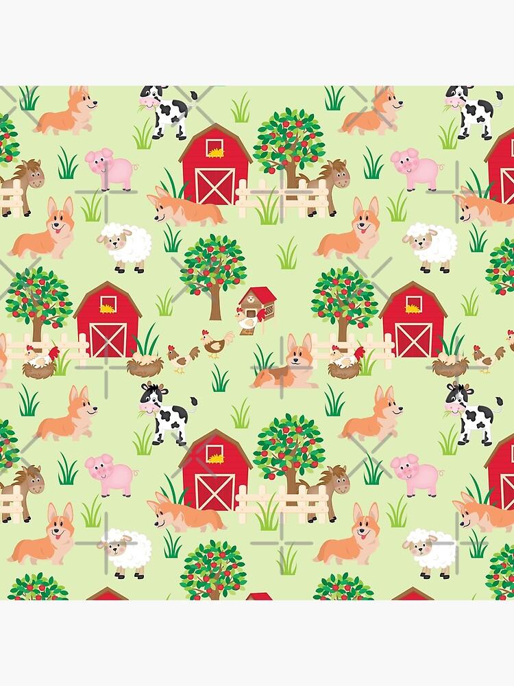 corgis on the farm by Corgiworld