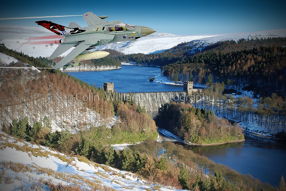 Winter At The Howden Dam - Tornado GR4 by Colin  Williams Photography