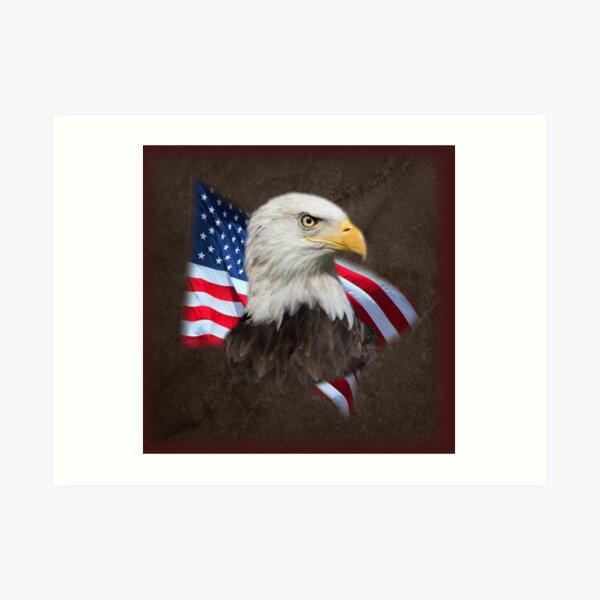 American Eagle and Flag Art Print