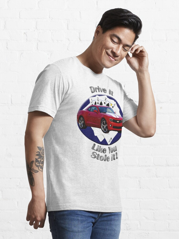Alternate view of Chevy Camaro SS Drive It Like You Stole It Essential T-Shirt