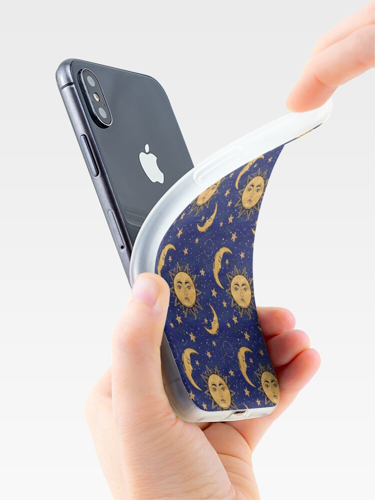 Alternate view of Vintage moon and sun stars celestial iPhone Case & Cover