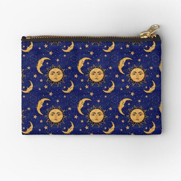 Vintage moon and sun stars celestial Zipper Pouch