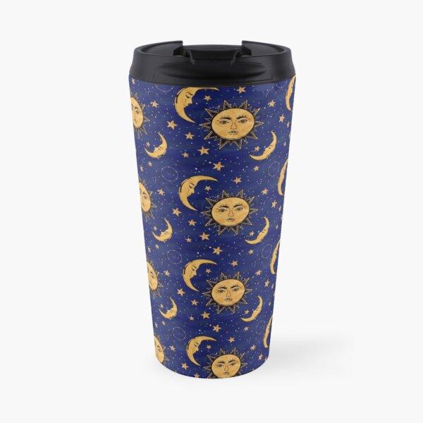 Vintage moon and sun stars celestial Travel Mug