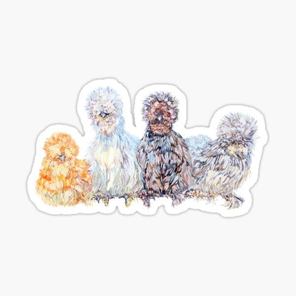 Silkie Chicken Huddle Sticker