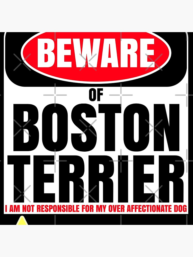 Beware of Boston Terrier I Am Not Responsible For My Over Affectionate Dog You Have Been Warned Gift For Boston Terrier by dog-gifts