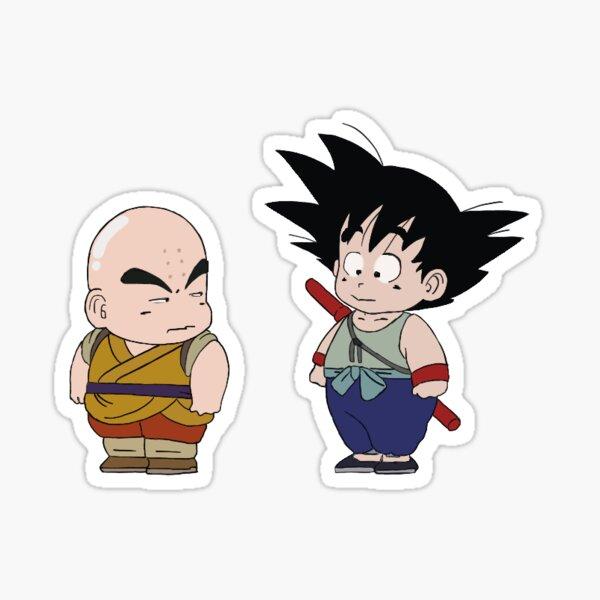 junger Goku und Krilin Sticker