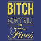 "Bitch don't kill my fives - Jordan 5 ""Laney"" match by Chigadeteru"