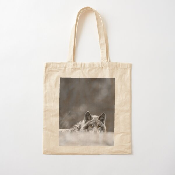 Timber Wolf Cotton Tote Bag