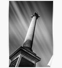 Nelsons Column London Poster