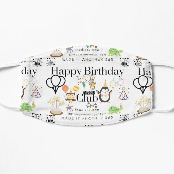 Happy Birthday Club Flat Mask