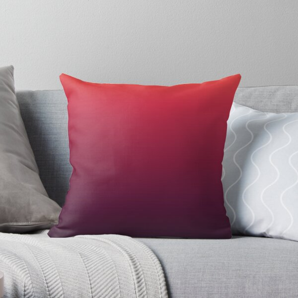 Red and Black gradient vintage (Cinnabar to Blackberry) Throw Pillow