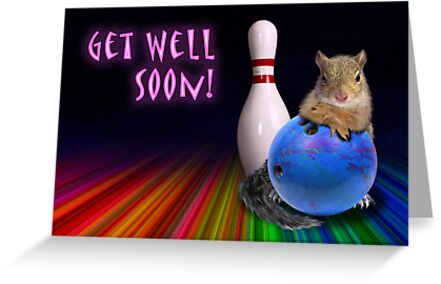 Get Well Soon Squirrel by jkartlife