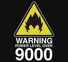 WARNING: Power Level Over 9000 | Unisex T-Shirt