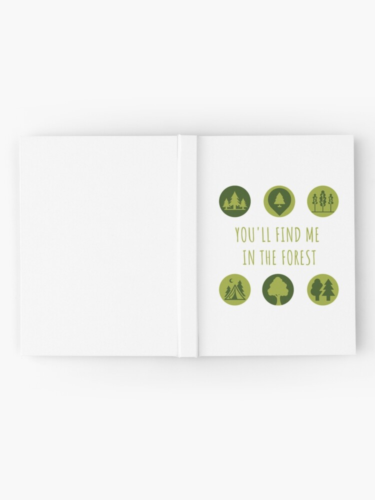 Alternate view of You'll Find Me in the Forest Collection  Hardcover Journal