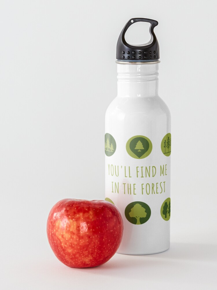 Alternate view of You'll Find Me in the Forest Collection  Water Bottle