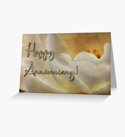 Candlelight rose - anniversary card Greeting Card