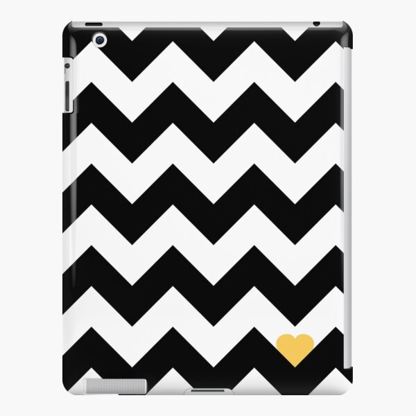 Heart & Chevron - Black/Yellow Coque rigide iPad