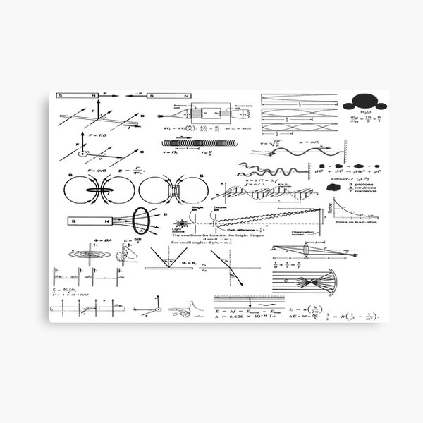 General Physics 2, Thermodynamics, Atomic Physics, Nuclear Physics Metal Print