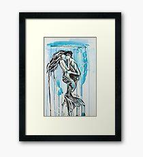 Kiss Me Under Framed Print
