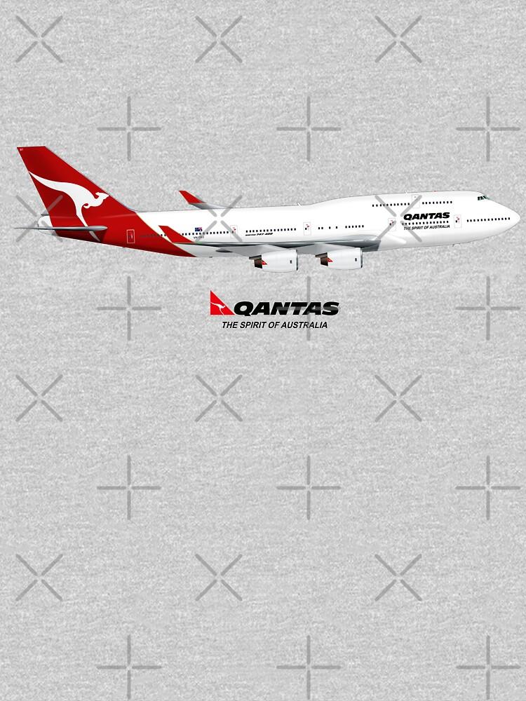 QANTAS 747  by Manecas