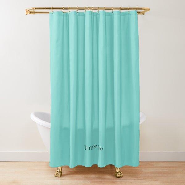 Tiffany Blue w/ Logo  Shower Curtain