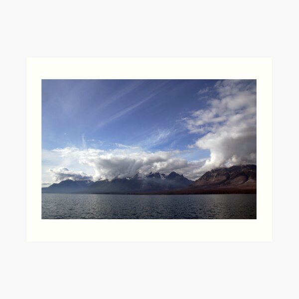 Looking South down Chilko Lake, BC, Canada Art Print