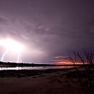 Lightning at Sunset in Derby by Mary Jane Foster