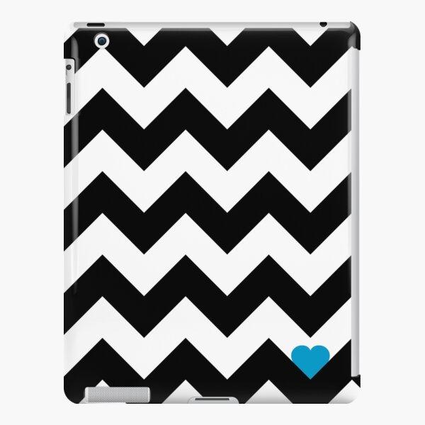 Heart & Chevron - Black/Classic Blue Coque rigide iPad