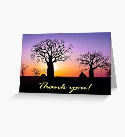 A Kimberley Thank You Greeting Card