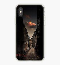 Red cloud in Paris (France) iPhone Case