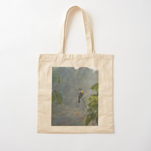Toucan in the Mist Cotton Tote Bag
