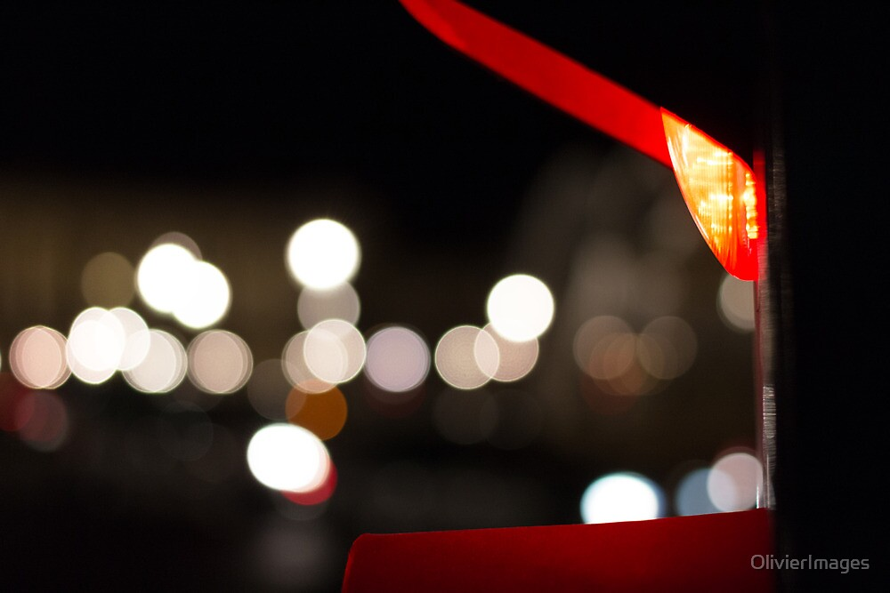 Red Traffic Light in Paris by OlivierImages