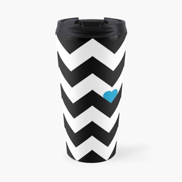 Heart & Chevron - Black/Classic Multi Mug isotherme