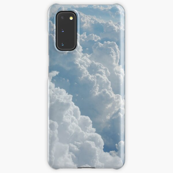 White Fluffy Clouds Samsung Galaxy Snap Case