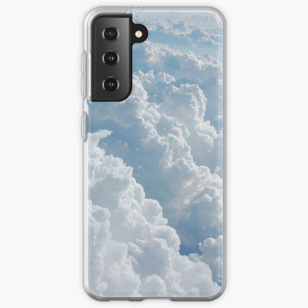 Weiße flauschige Wolken Samsung Galaxy Flexible Hülle
