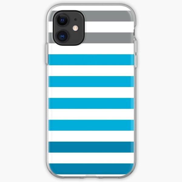 Stripes Gradient - Blue Coque souple iPhone