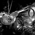 Christmas Bird 2015 (B&W) by Lisa Kent