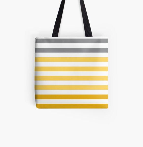 Stripes Gradient - Yellow Tote bag doublé