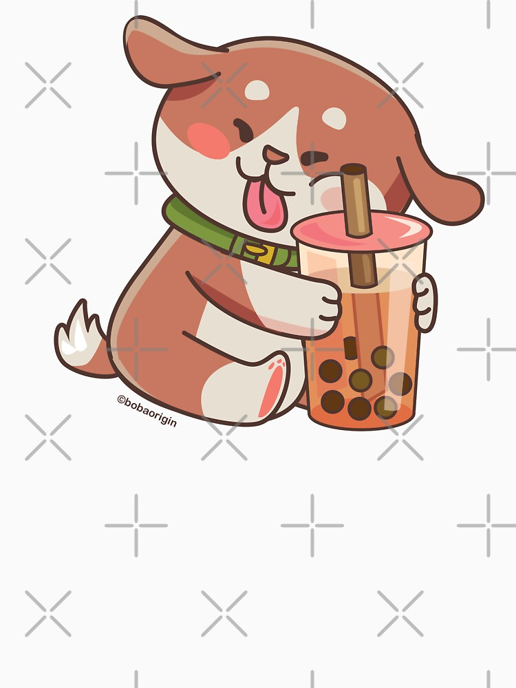 Cute Dog Boba Artwork by BobaOrigin