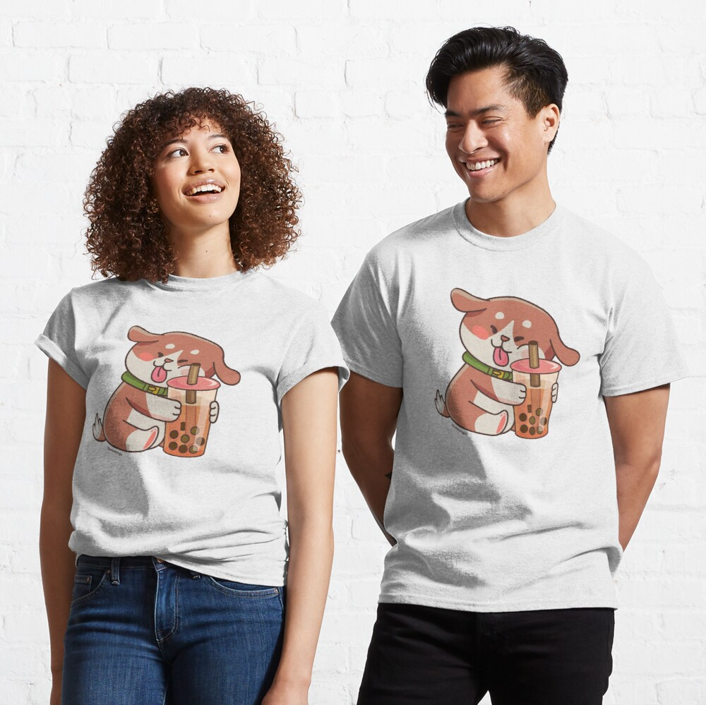 Cute Dog Boba Artwork Classic T-Shirt